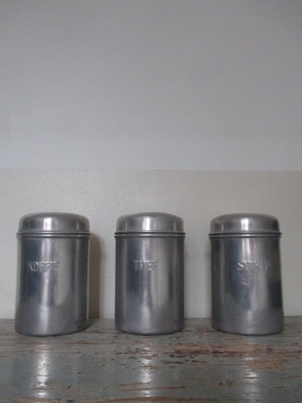 Oude voorraadbussen koffie thee  suiker SOLD