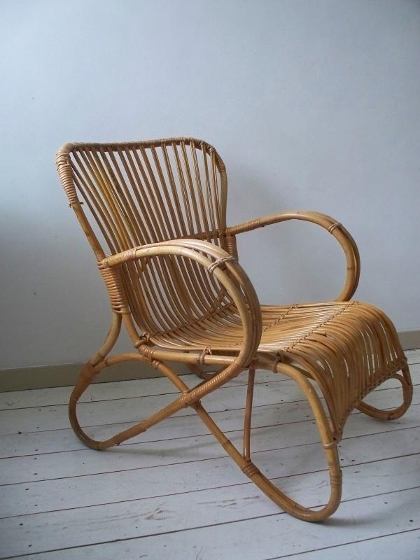 Oude rotan stoel SOLD