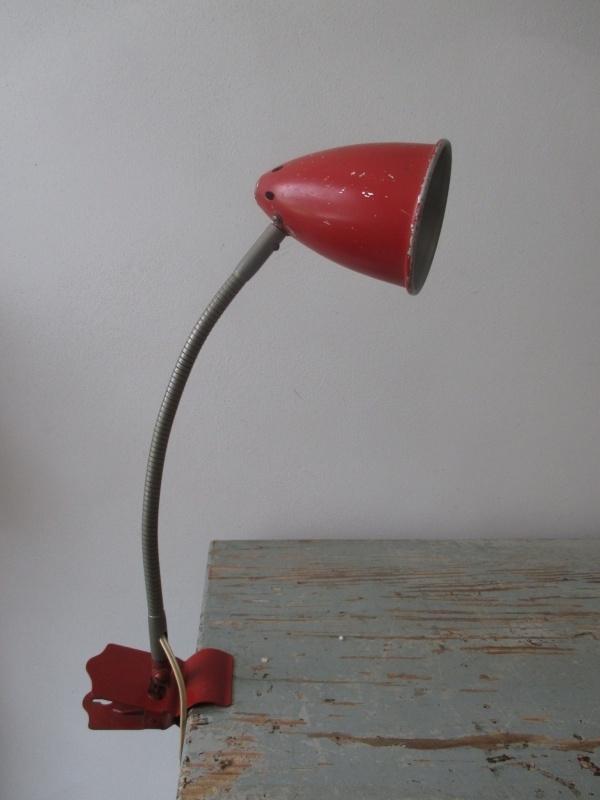 Industrieel oud bureaulampje retro/vintage Hala SOLD
