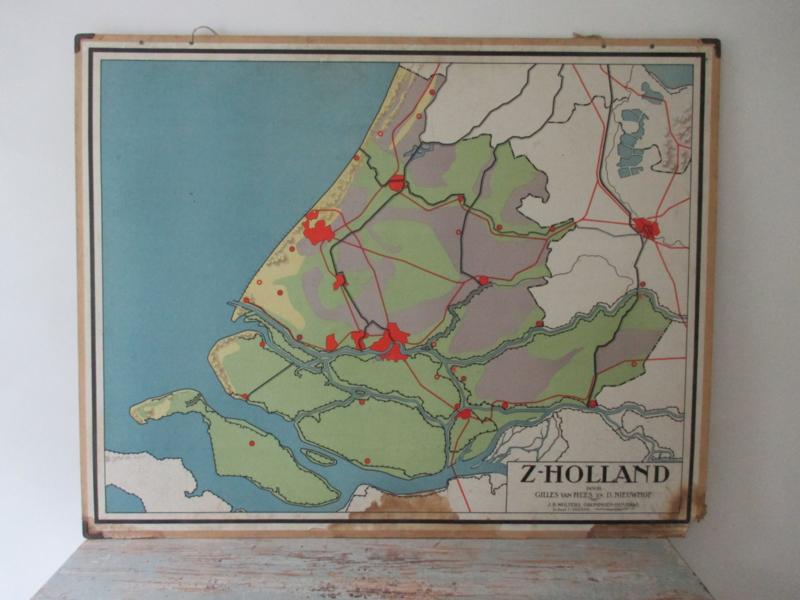 Oude schoolplaat Zuid-Holland