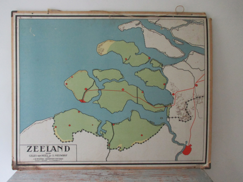 Oude schoolplaat Zeeland SOLD