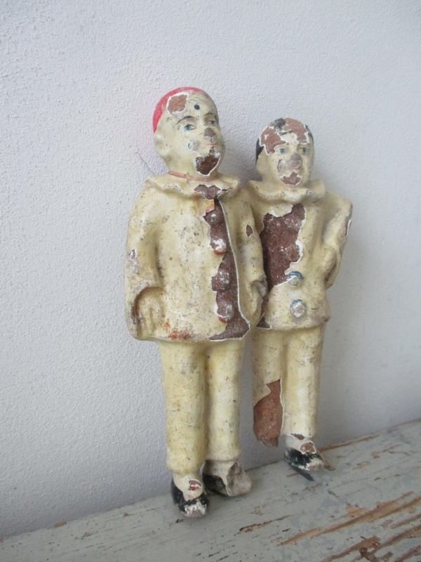 Antieke popjes / clowntjes / pierrot SOLD