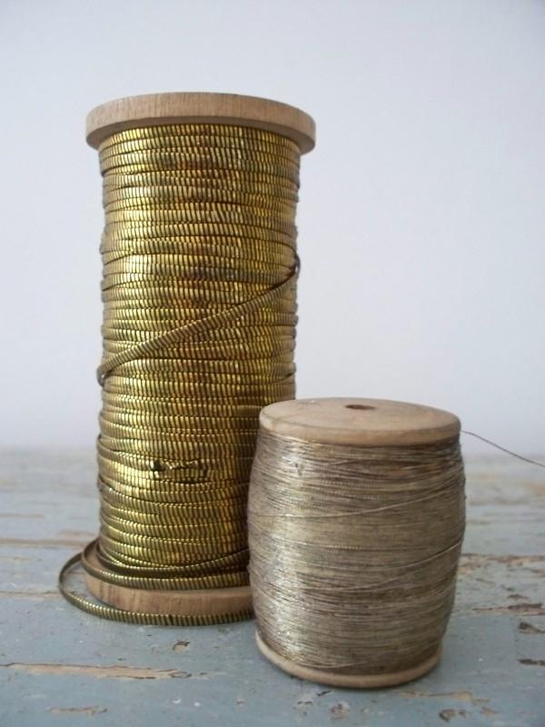 Oude klossen gouddraad SOLD