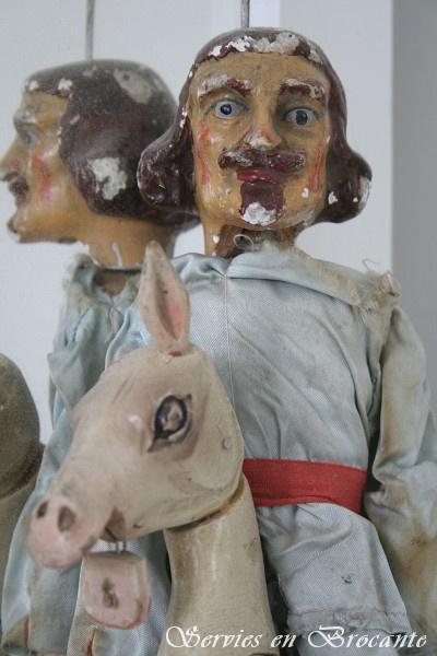 Antieke marionettenpop  prins sold