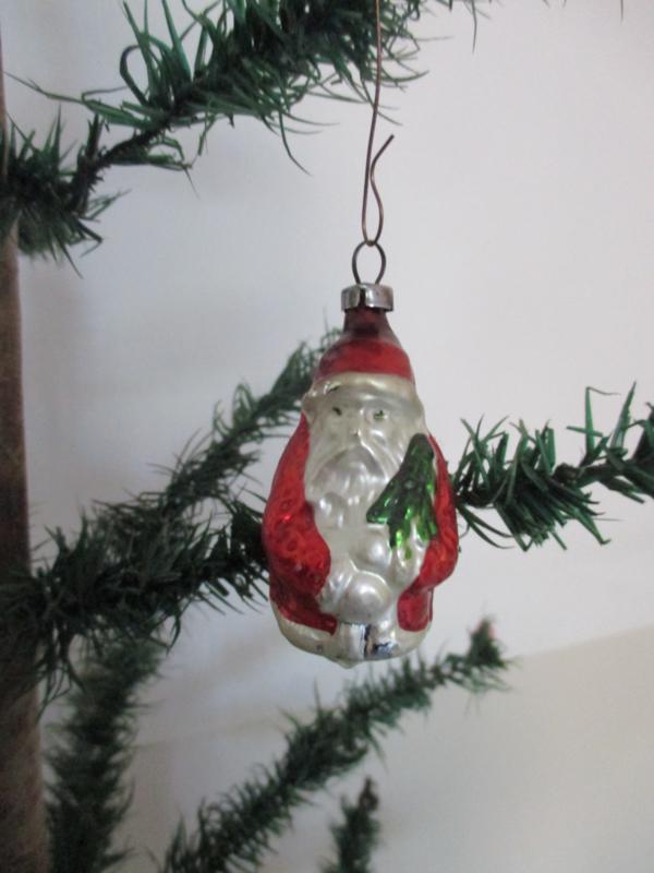 Oude antieke kerstbal / kerstman