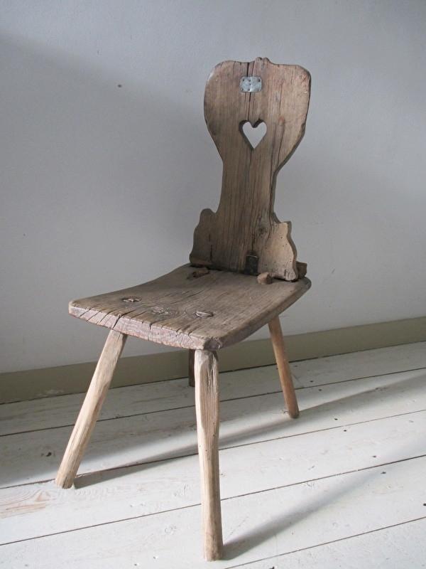 Oud zweeds krukje / stoeltje SOLD