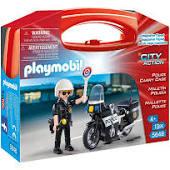 Politie motor in koffertje 5648
