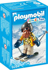Skier op snowblades 9284