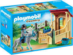 Appaloosa met paardenbox  6935