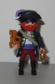 Piraat blauw met aap (3)
