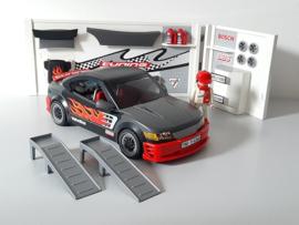 Race auto zwart met geluid (13151)