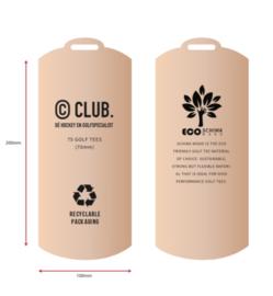 Golftees in duurzame verpakking