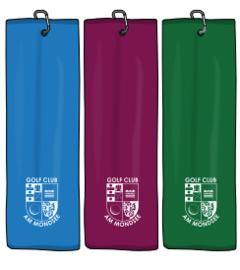 Velours Tri-fold logo handdoek