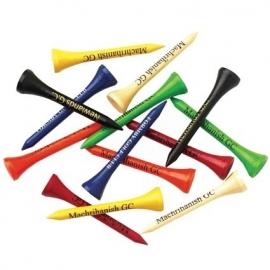 Golf Tees KORT 5,4 cm incl.1 kleur bedrukking (per 1000 stuks)