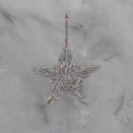 Houten ster, vergrijsd doorsnee 40 cm