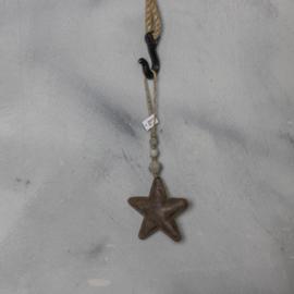Hanger ster, stoer 13x4 cmx4 cm