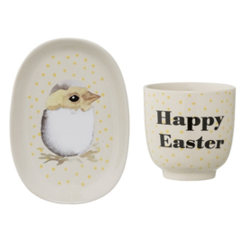 Beker en Bordje Kuiken, Happy Easter