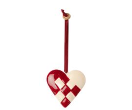 Hanger breaded heart, rood