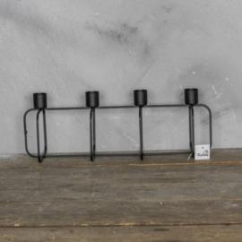 Kaarsenstandaard metaal, 38x 13 cm