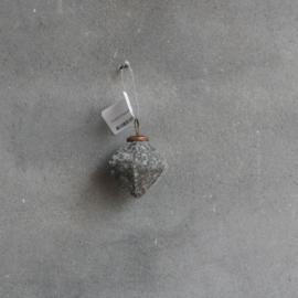 Kerstbal 6,5 cm Marble grey