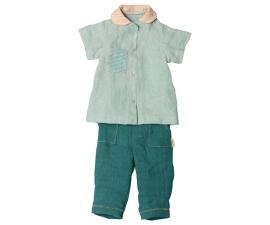 Maxi, linnen broek met shirt