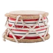 Drum red stripes mini