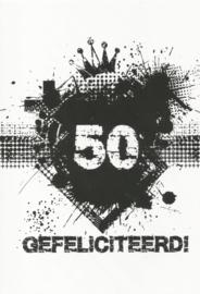 43 05009 - Luxe wenskaart verjaardag 50 jaar