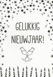 97 0034 - Luxe wenskaart happy new year