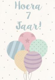43 00701 - Luxe wenskaart verjaardag 7 jaar