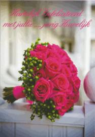 86 0001 - Luxe wenskaart ... jaar getrouwd
