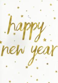 97 0027 -  Luxe wenskaart happy new year