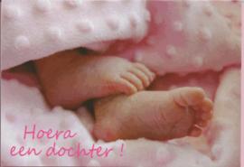 03 0012 - Luxe wenskaart geboorte dochter