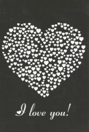 12 0021 - Vriendschap / Liefde / Relatie Lifestyle Zwart/Wit