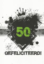 43 05010 - Luxe wenskaart verjaardag 50 jaar