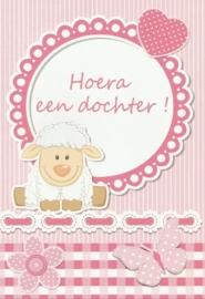 03 0003 - Luxe wenskaart geboorte dochter