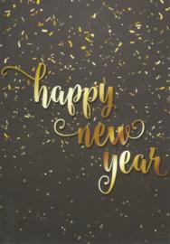 97 0005 - Luxe wenskaart happy new year