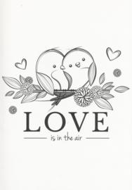 12 0025 - Vriendschap / Liefde / Relatie Lifestyle Zwart/Wit