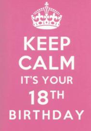 43 01801 - Luxe wenskaart verjaardag 18 jaar