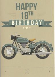 43 01802 - Luxe wenskaart verjaardag 18 jaar