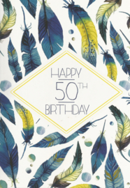 43 05001 - Luxe wenskaart verjaardag 50 jaar
