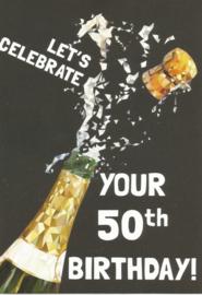 43 05002 - Luxe wenskaart verjaardag 50 jaar