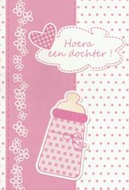 03 0017 - Luxe wenskaart geboorte dochter