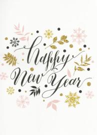 97 0035 -  Luxe wenskaart happy new year