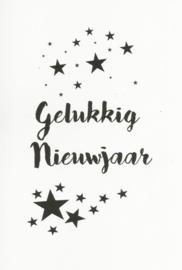 97 0032 -  Luxe wenskaart happy new year