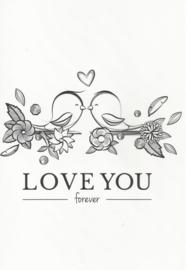 12 0016 - Vriendschap / Liefde / Relatie Lifestyle Zwart/Wit