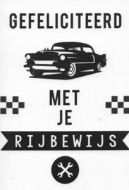 18 0029 - Luxe wenskaart Geslaagd Rijbewijs