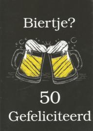 43 05006 - Luxe wenskaart verjaardag 50 jaar