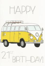 43 02102 - Luxe wenskaart verjaardag 21 jaar