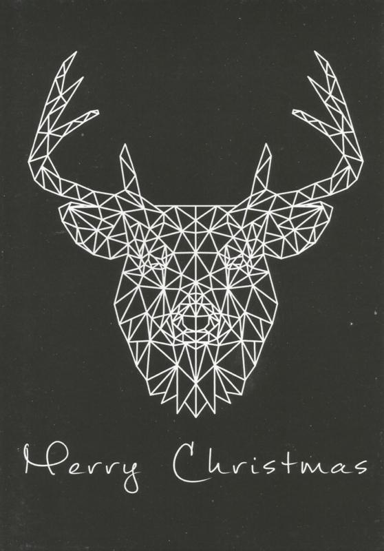 97 0015 - Luxe wenskaart kerst