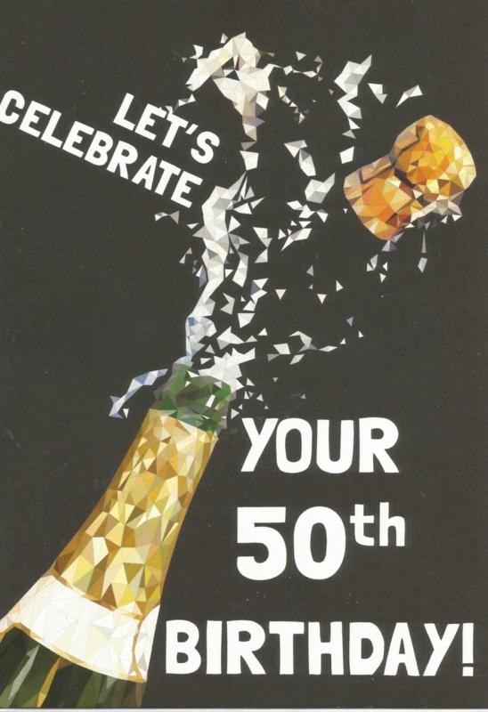 Betere 43 05002 - Luxe wenskaart verjaardag 50 jaar   Verjaardag 50 jaar AC-03